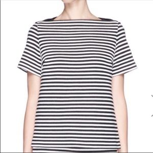 NWT T Alexander Wang leather trim striped top 6 A3